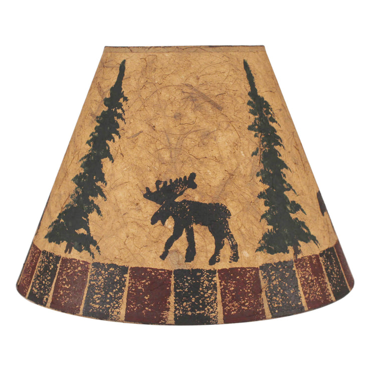 Moose and Feather Trees Block Lamp Shade