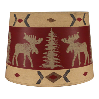 Moose and Pines Drum Lamp Shade