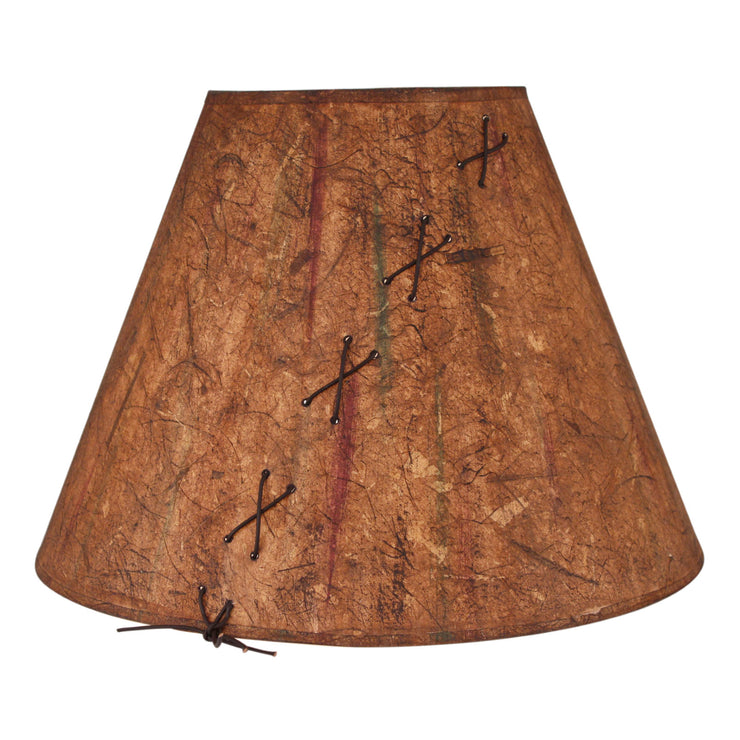 Leather Lace Accent Multi Color Charred Lamp Shade