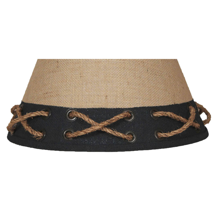 Navy Band Rope and Grommets Lamp Shade Close-up