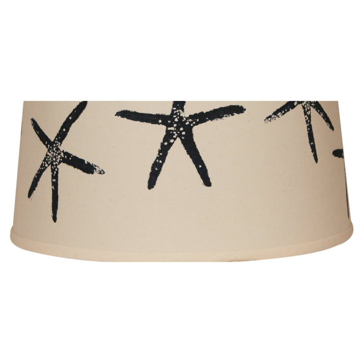 Navy Starfish Lamp Shade Close-up