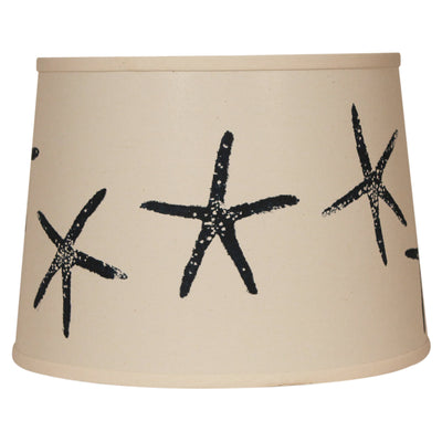 Navy Starfish Lamp Shade