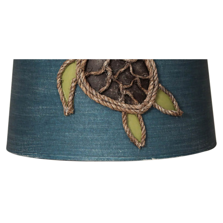 Turtle Rope Drum Lamp Shade Close-up