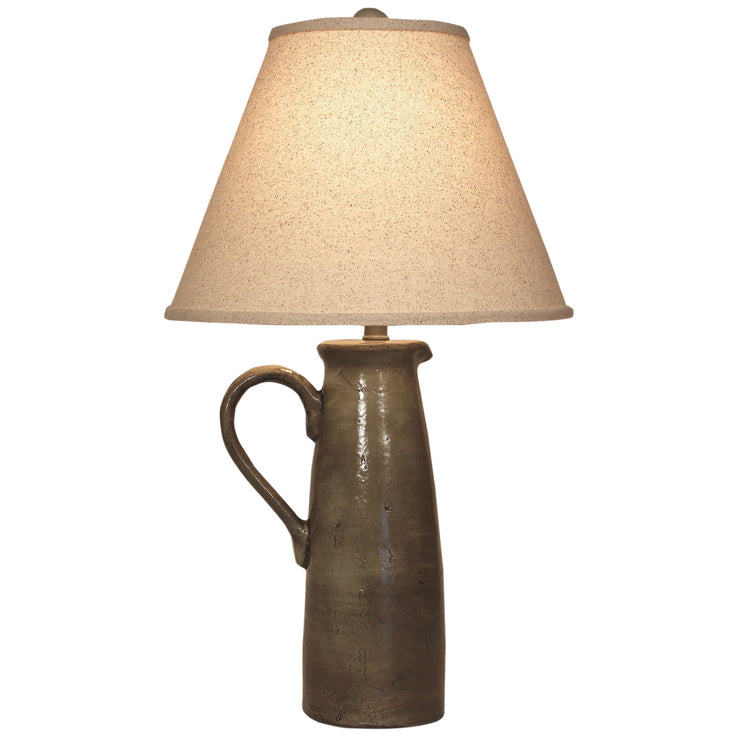 One Handle Pitcher Pale Grey Table Lamp
