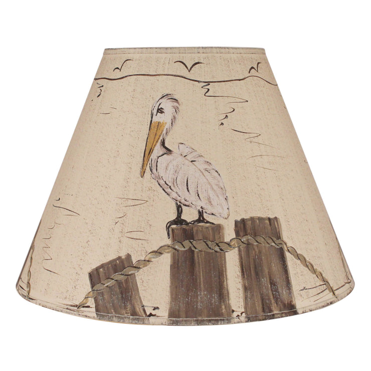 Pelican On Dock Pilings Lamp Shade