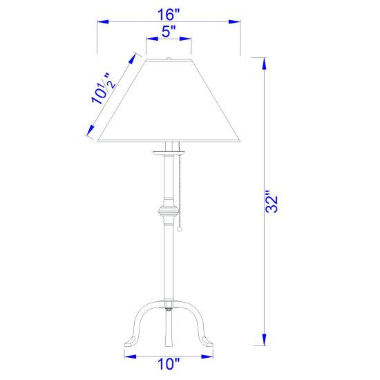 Pennyfoot Table Lamp Dimensions