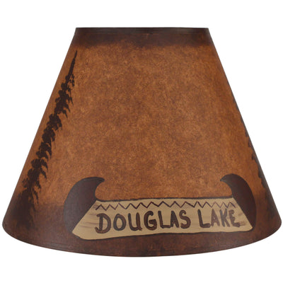 Personalized Canoe & Feather Trees Lamp Shade