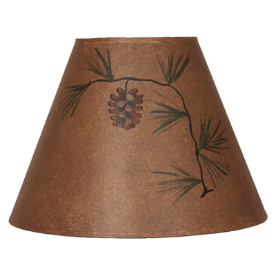 Short Pine Cone Rustic Brown Lamp Shade