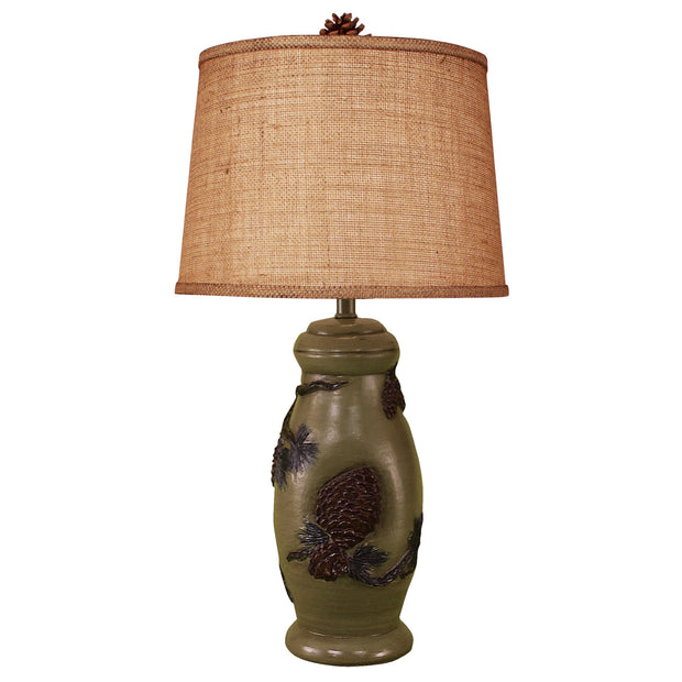 Forest Pine Cone Table Lamp