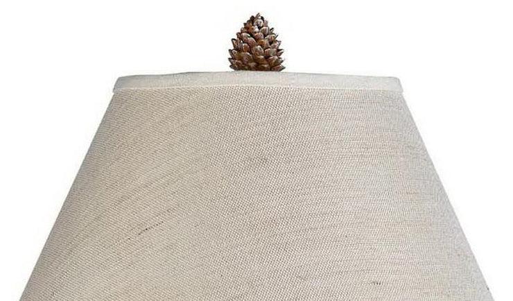 Pinecone Tree Table Lamp Shade Finial Close-up