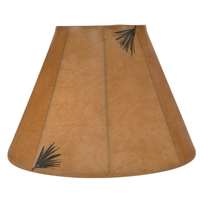 Pine Needles Faux Leather Lamp Shade