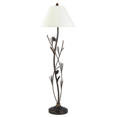 Pine Twig Wrought Iron Floor Lamp