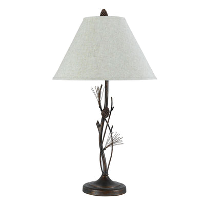 Pine Twig Wrought Iron Table Lamp