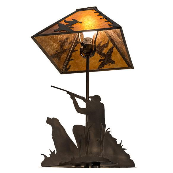 Duck Hunter Table Lamp - Underside View