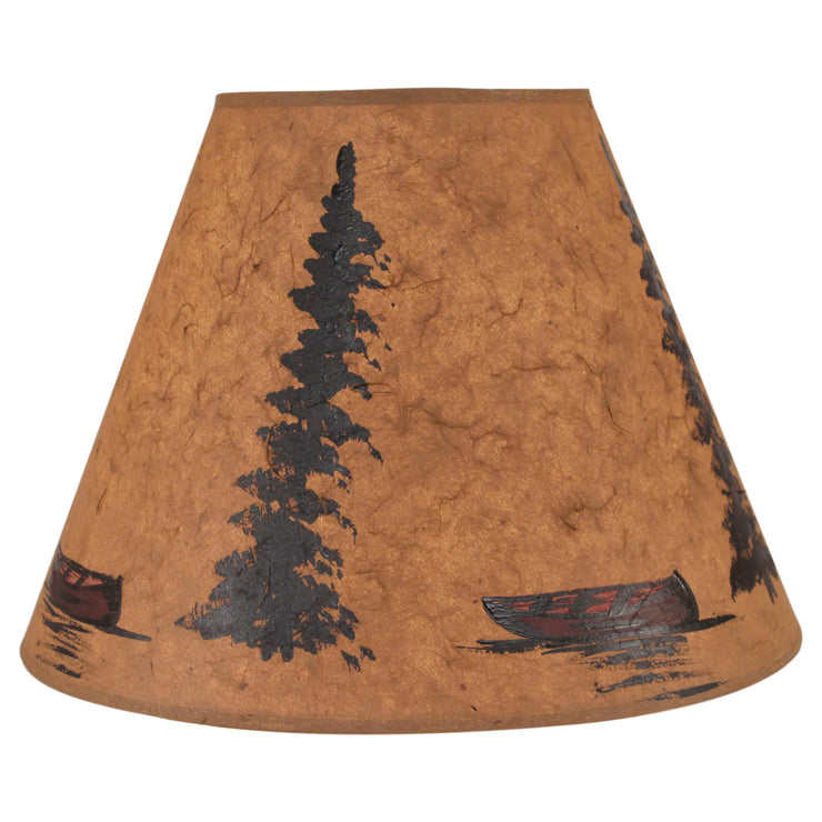 Red Canoes and Trees Lamp Shade