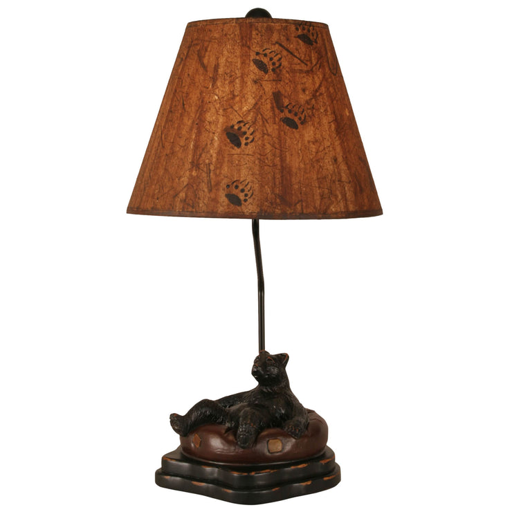 Riverwoods Bear in Innertube Table Lamp