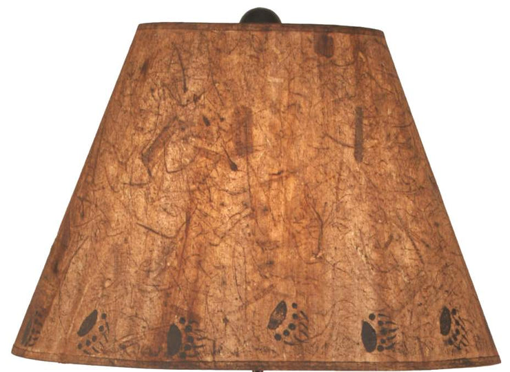 Riverwoods Bear Family in Canoe Table Lamp Shade Close-up