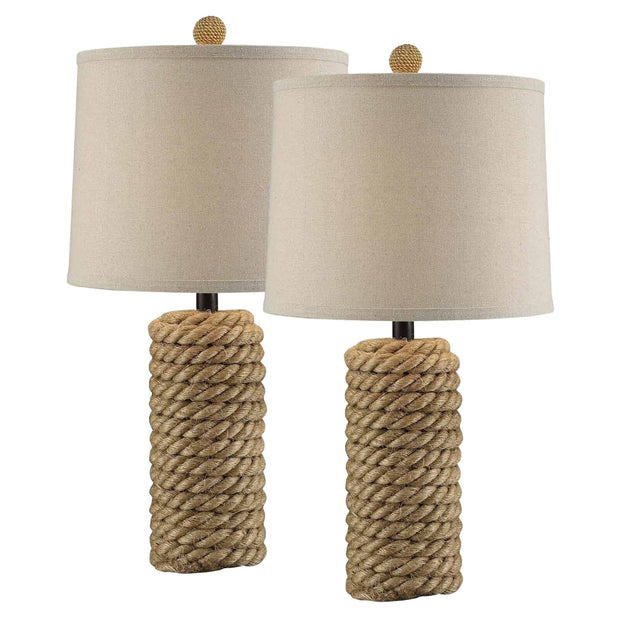 Rope Bolt Table Lamp Set of 2