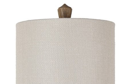 Rustic Finial Buffet Lamp Shade Close-up
