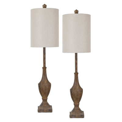 Rustic Finial Buffet Lamp Set of 2