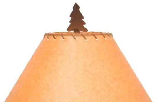 Scottsdale Pine Tree Table Lamp Shade Close-up