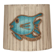 Distressed Cottage Angel Fish Wood Panel Lamp Shade
