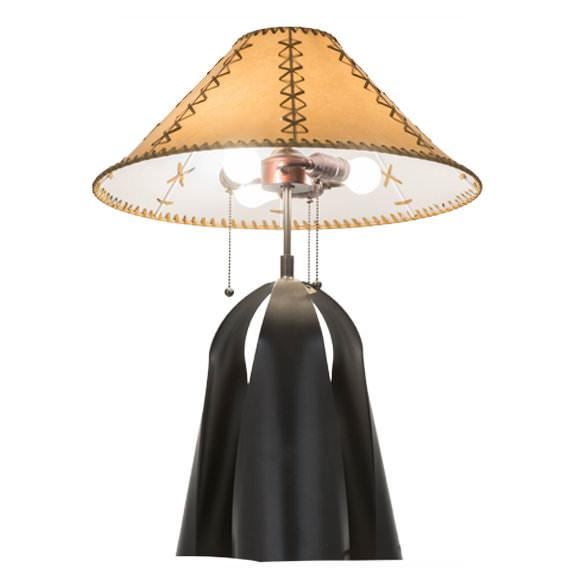 Sedona Faux Leather Shade Table Lamp Underside View