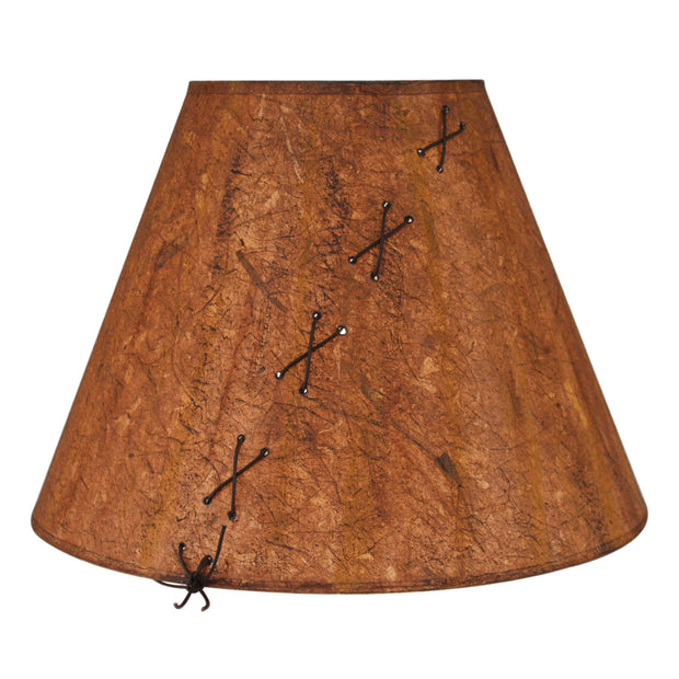 Leather Lace Accent Charred Lamp Shade