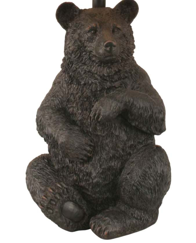 Sitting Bear Table Lamp Base Close-up