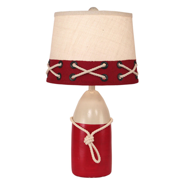 Buoy Accent Lamp in White & Red