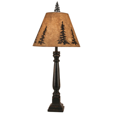 Square Pine Tree Buffet Lamp