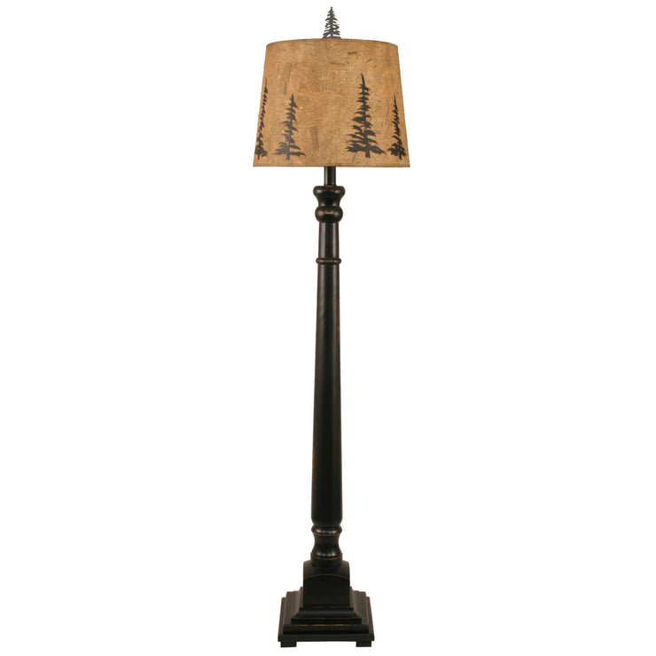 Square Candlestick Pine Tree Floor Lamp