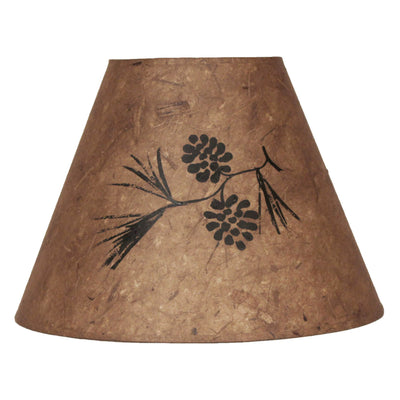Black with Bronze Accent Pine Cones Lamp Shade