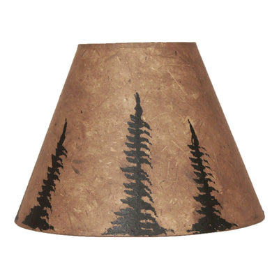 Black Feather Tree Stained Lamp Shade