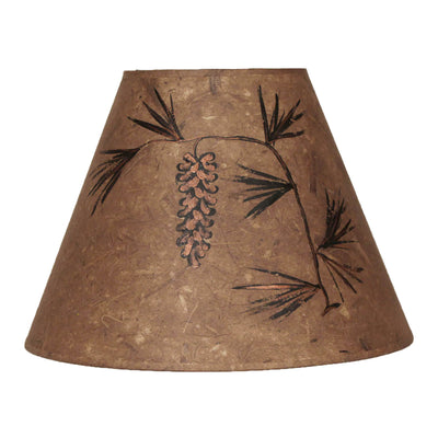 Long Bronze Pine Cone Lamp Shade