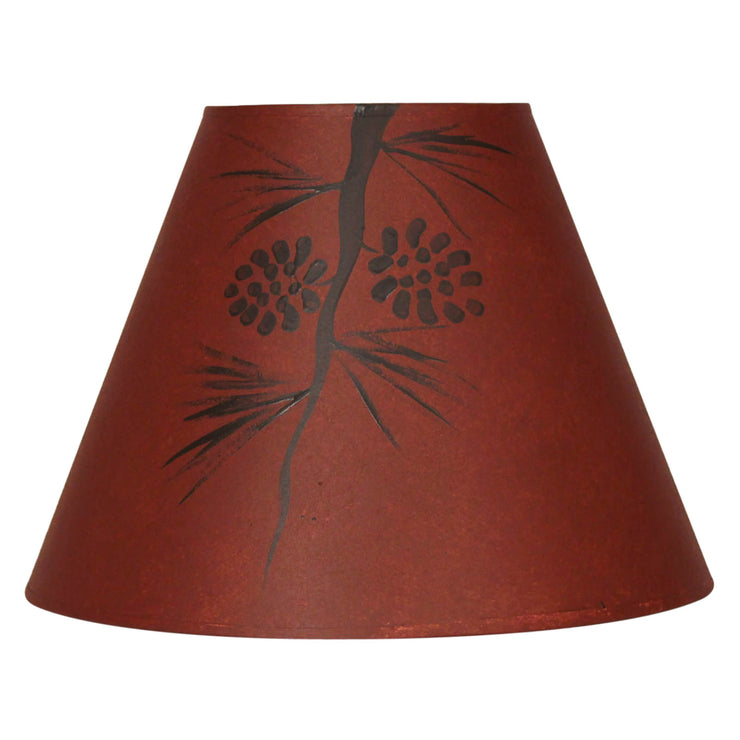 Pine Cone Limb Red Stained Lamp Shade