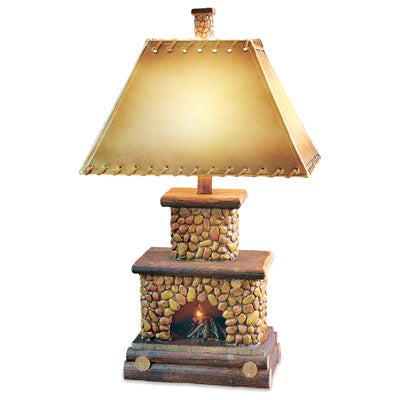 Stone Fireplace Table Lamp