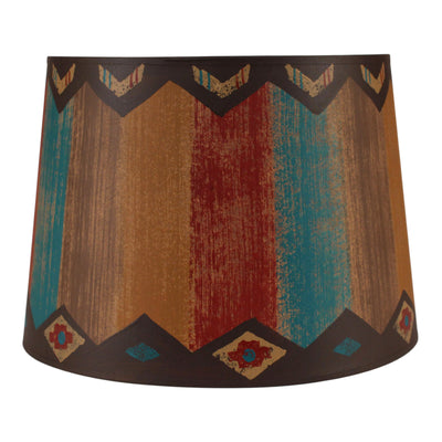 Diamond Stripe Native Drum Lamp Shade