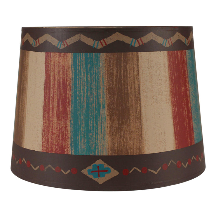 Zig Zag Border Stripe Native Drum Lamp Shade