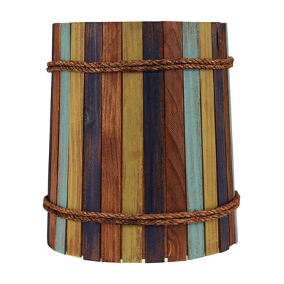 Bright Stripe Wood Panel Lamp Shade
