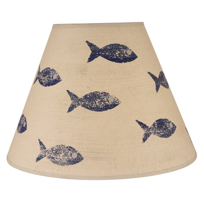 Swimming Fish Lamp Shade - Navy