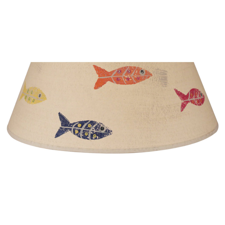 Swimming Fish Lamp Shade - Primary Colors Close-up