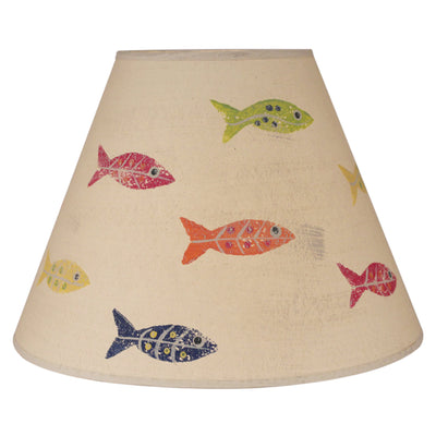 Swimming Fish Lamp Shade - Primary Colors