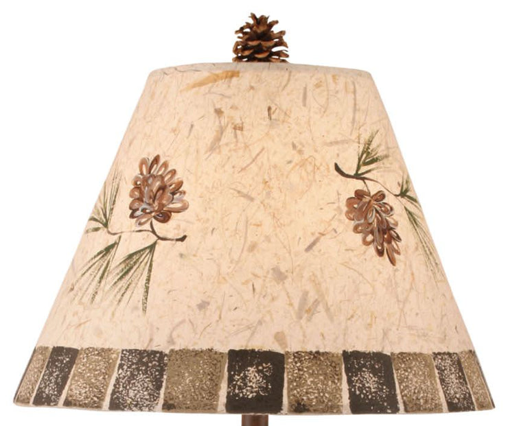 Tree Trunk Pine Cone Table Lamp Shade Close-up