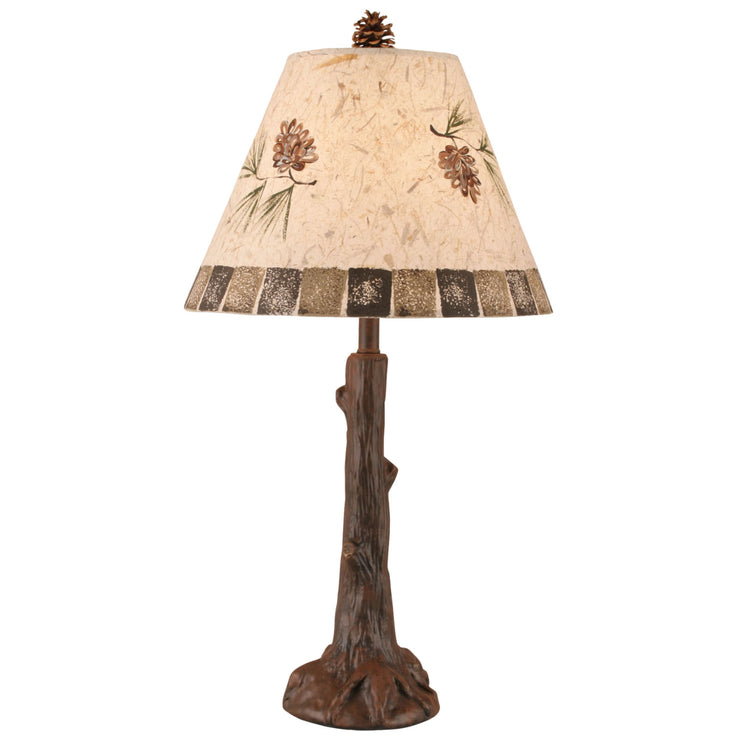 Tree Trunk Pine Cone Table Lamp