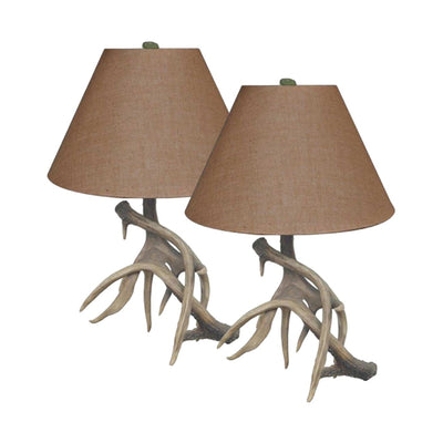 Trophy Antler Table Lamp Set of 2