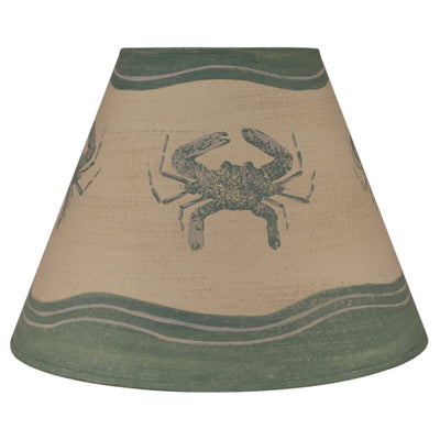 Weathered Crab Lamp Shade - Sea Green