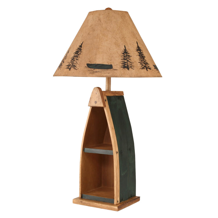 Boat Table Lamp in Green
