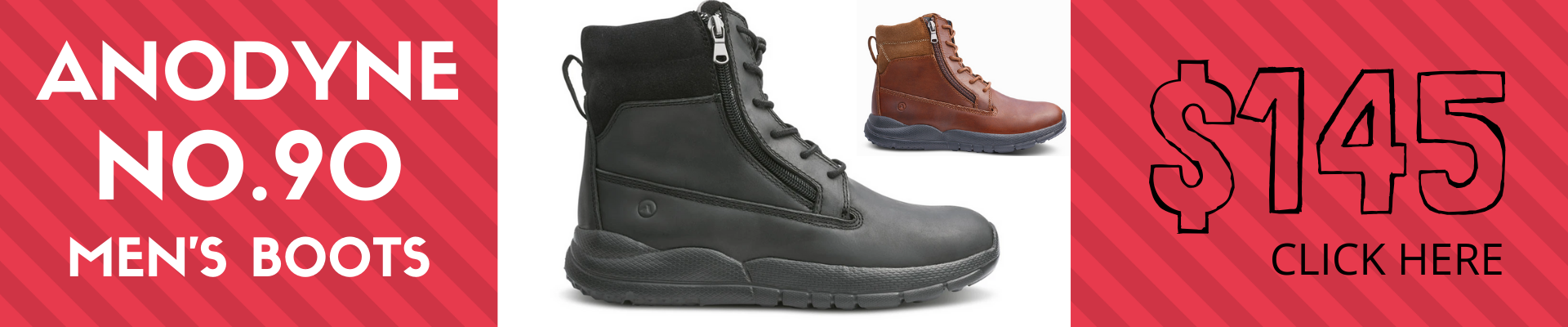 Anodyne Men's No. 90 Diabetic Therapeutic Work Boot
