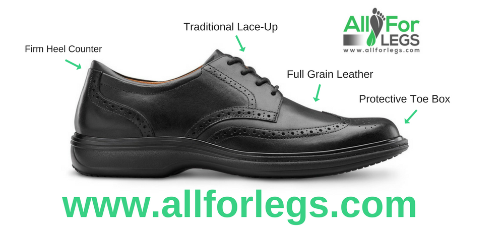 Dr.Comfort Wing Dress Shoe, Explore the Features | www.allforlegs.com